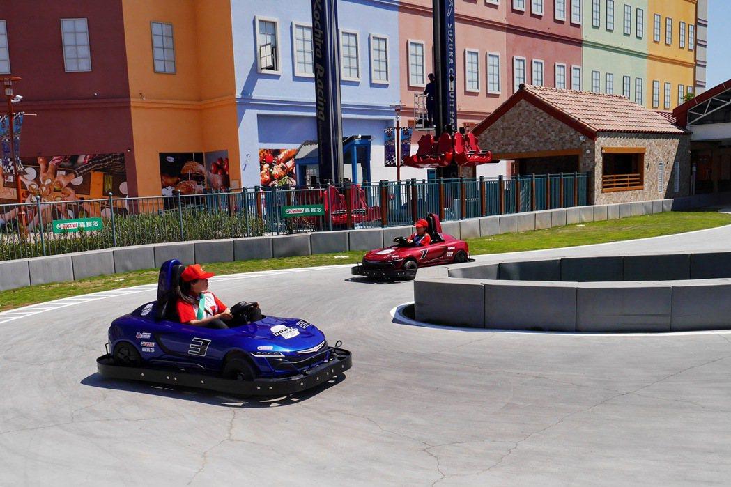 「鈴鹿賽道樂園」還提供許多不輸大型遊樂園的設施。 記者陳威任/攝影