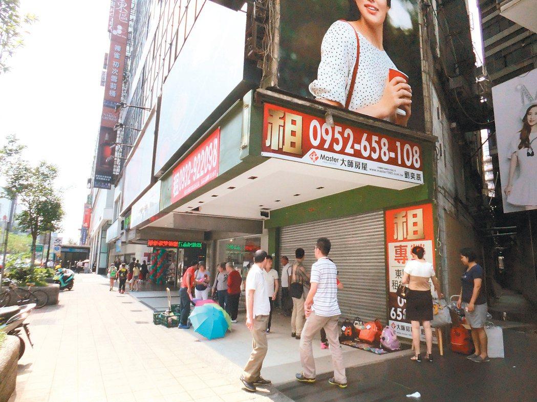 東區店面空置率仍持續上升。 記者游智文/攝影