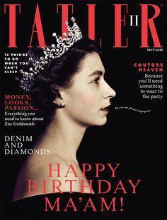 英國伊莉莎白二世登上TATLER雜誌封面。圖/擷自TATLER