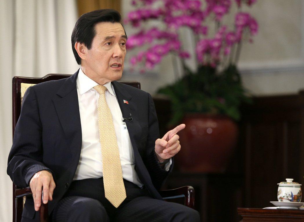 馬英九總統昨天接受udn tv全球瞭望節目主持人郭崇倫專訪。 記者高彬原/攝影