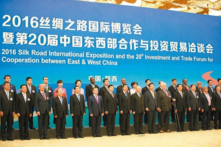 陝西省推動一帶一路戰略,絲綢之路國際博覽會昨天在西安開幕。 圖/本報西安傳真