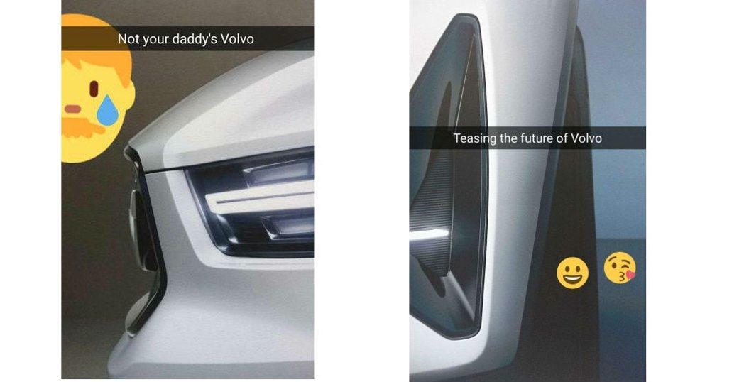頭燈組採用老大哥XC90的造型設計,下方氣壩也具備LED燈條。 摘自Volvo