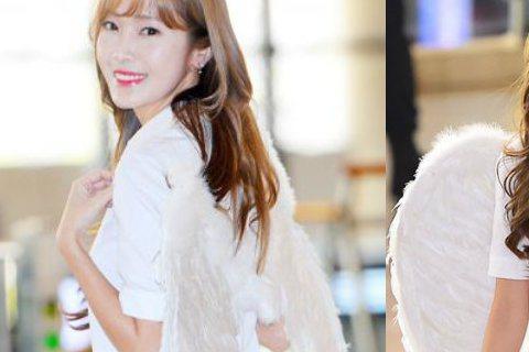 今日(5月18日)上午,韓國女歌手Jessica為出席某影片記者會搭機前往北京。