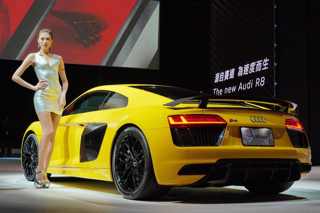 The new Audi R8 V10 plus。 記者陳威任/攝影