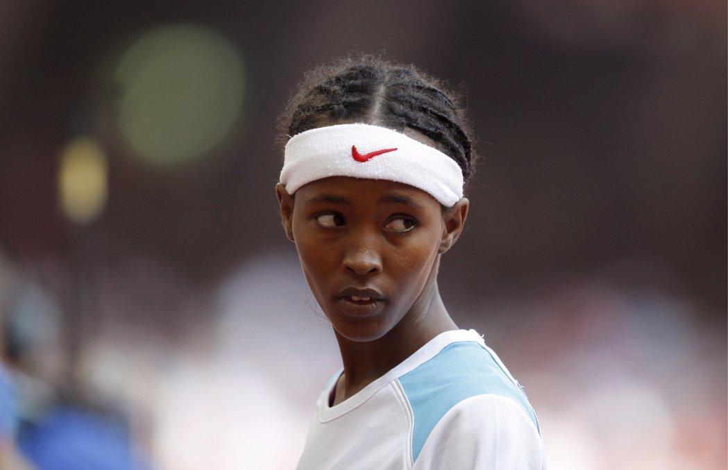 2008年的北京,是薩米婭在田徑舞台上第一次、也是最後一次被世界紀錄的身影。 圖...