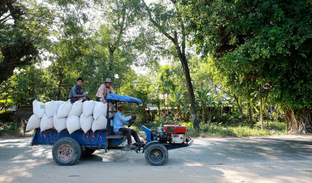 緬甸鄉村一景。 記者黃義書/攝影