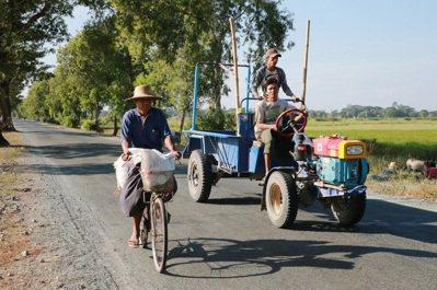 緬甸鄉村常見的景象。 記者黃義書/攝影