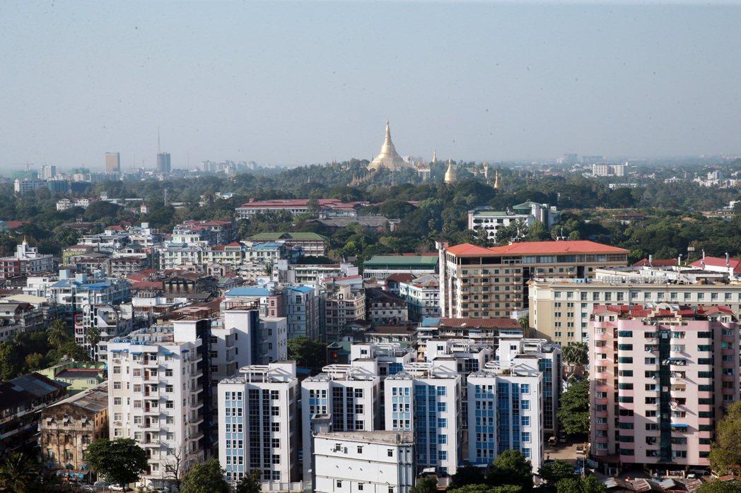 俯瞰緬甸市區。 記者黃義書/攝影