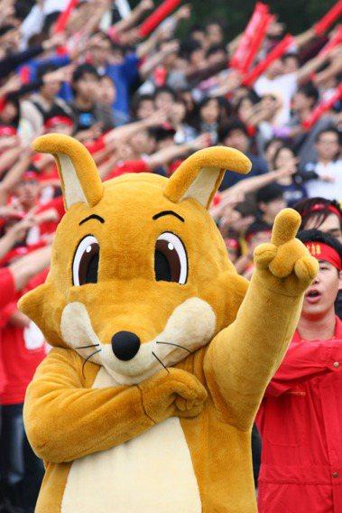 交大吉祥物「竹狐」。圖/交大提供