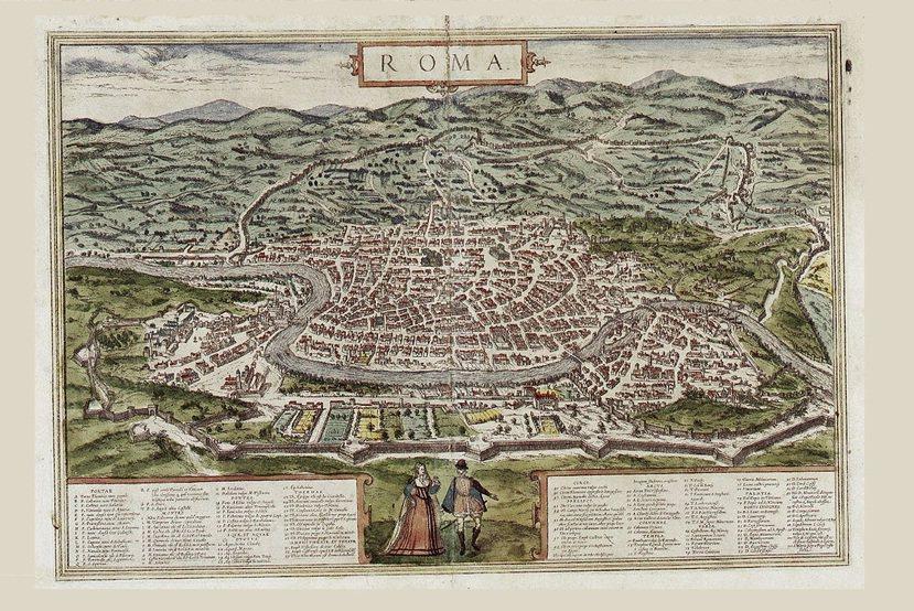 16世紀的羅馬,其西半部人口擁擠,缺乏水源的東半部顯得荒涼許多。因為急迫性較低,...
