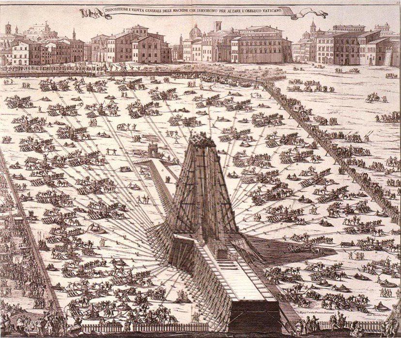 1585-1856年間的盛大工程:搬遷方尖碑。 圖/維基共享