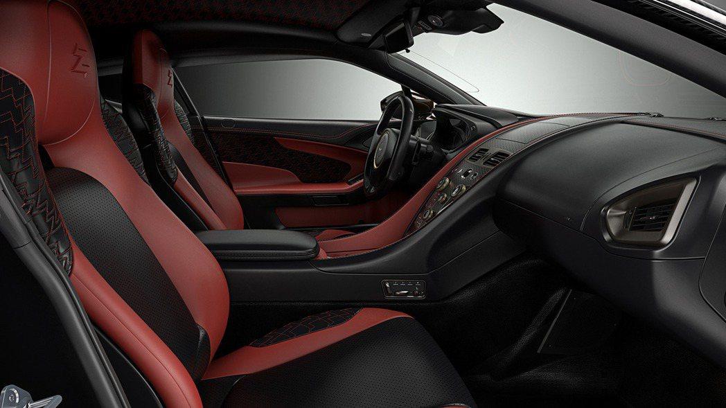 內裝方面,Vanquish Zagato Concept大抵採用紅黑雙色設計。 ...