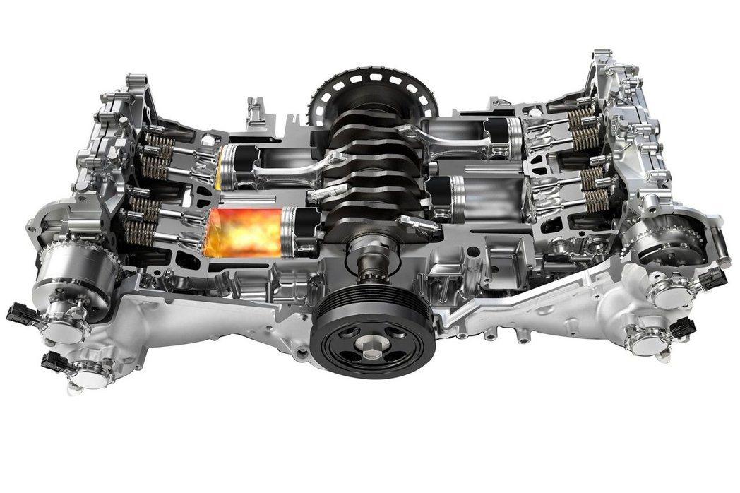採用2.0升水平對臥渦輪增壓汽油引擎,最大馬力維持240hp。 摘自Subaru