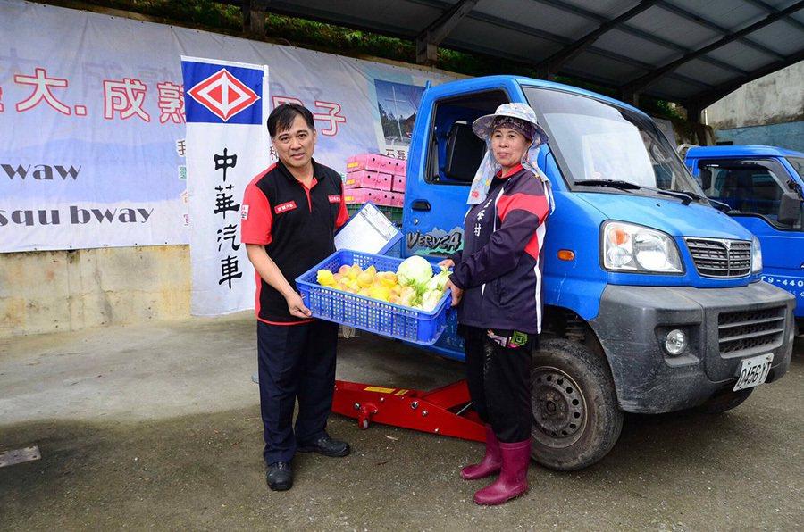 愛的螺絲釘車輛健檢巡迴服務 原民小農感謝中華汽車的關懷。 中華三菱提供