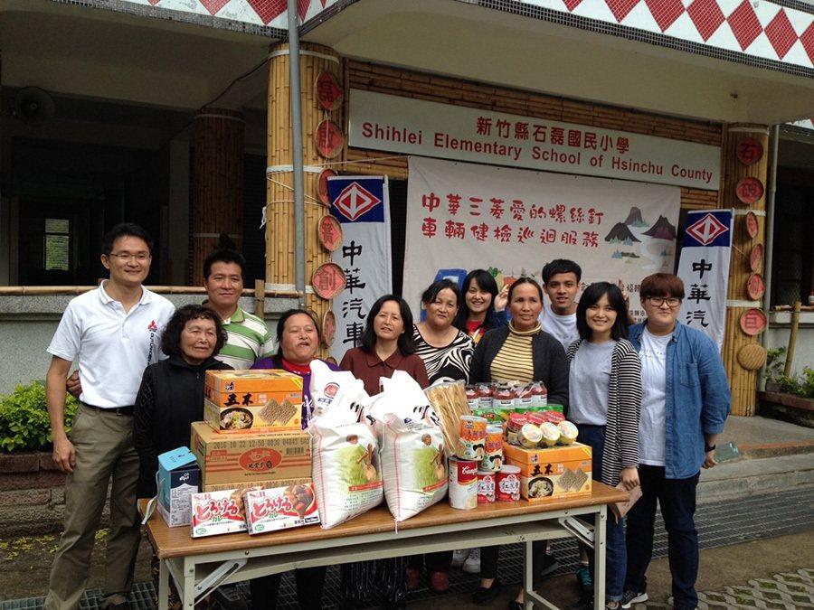 讓幸福轉動 中華三菱送愛到部落 捐贈物資至石磊部落 。 中華三菱提供