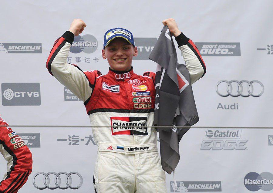 在第一回合佔有起跑優勢的愛沙尼亞新秀Martin Rump,一開賽就將所有對手拋到身後,最終贏得第一回合冠軍。 Audi提供