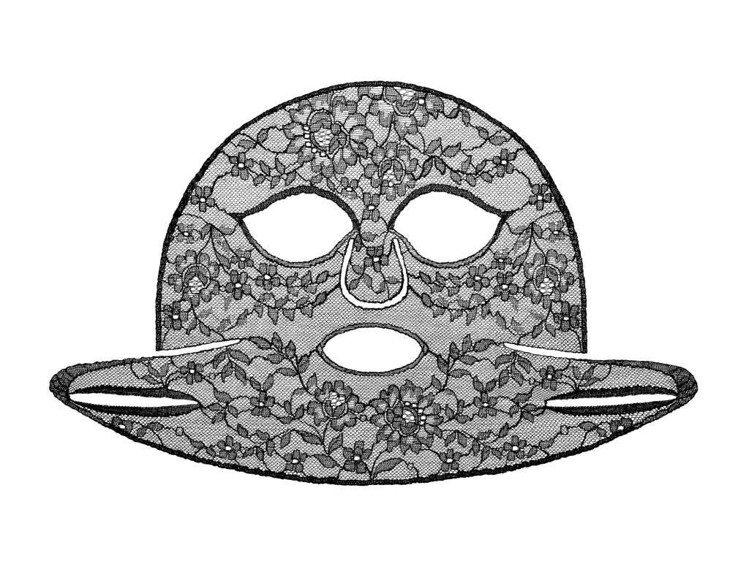 紀梵希黑鑽奢華頂級蕾絲面膜,4片10,600元。圖/紀梵希提供