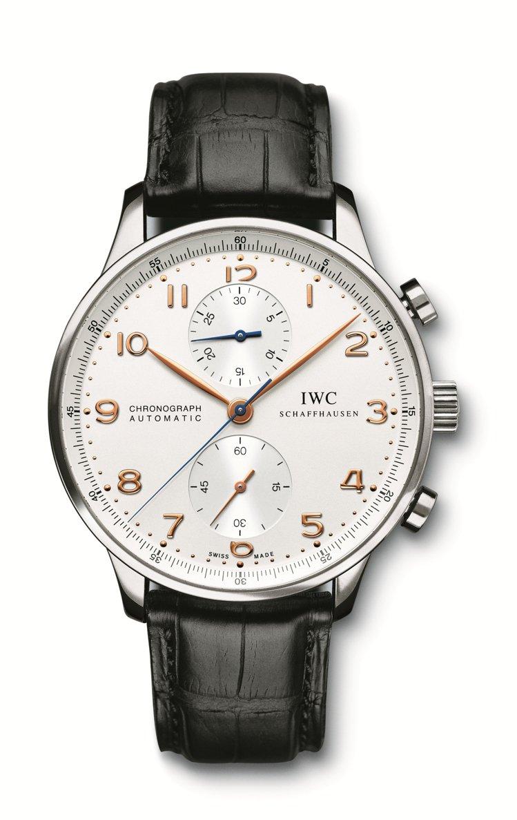 (非新款)陳柏霖私底下常配戴這款葡萄牙計時腕表,自動上鍊機芯, 精鋼表殼,25萬...