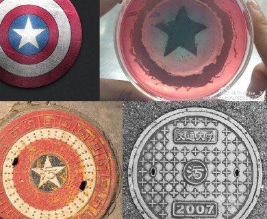 陸網友「Promise__Xu」自曝微生物課搞「花式接菌」,紅圈圖樣再加星星,宛如漫威英雄美國隊長的盾牌,不過他說「只可惜中間少了一個紅色的環,沒有畫出完美的美隊盾牌」,不過還是很有FU。而畢業於上...