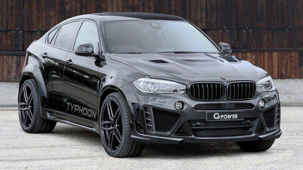 G-Power近日針對BMW X6M推出一款名為Typhoon的改裝新作。 摘自...