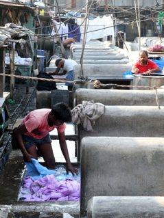 印度孟買千人洗衣坊Dhobi Ghat