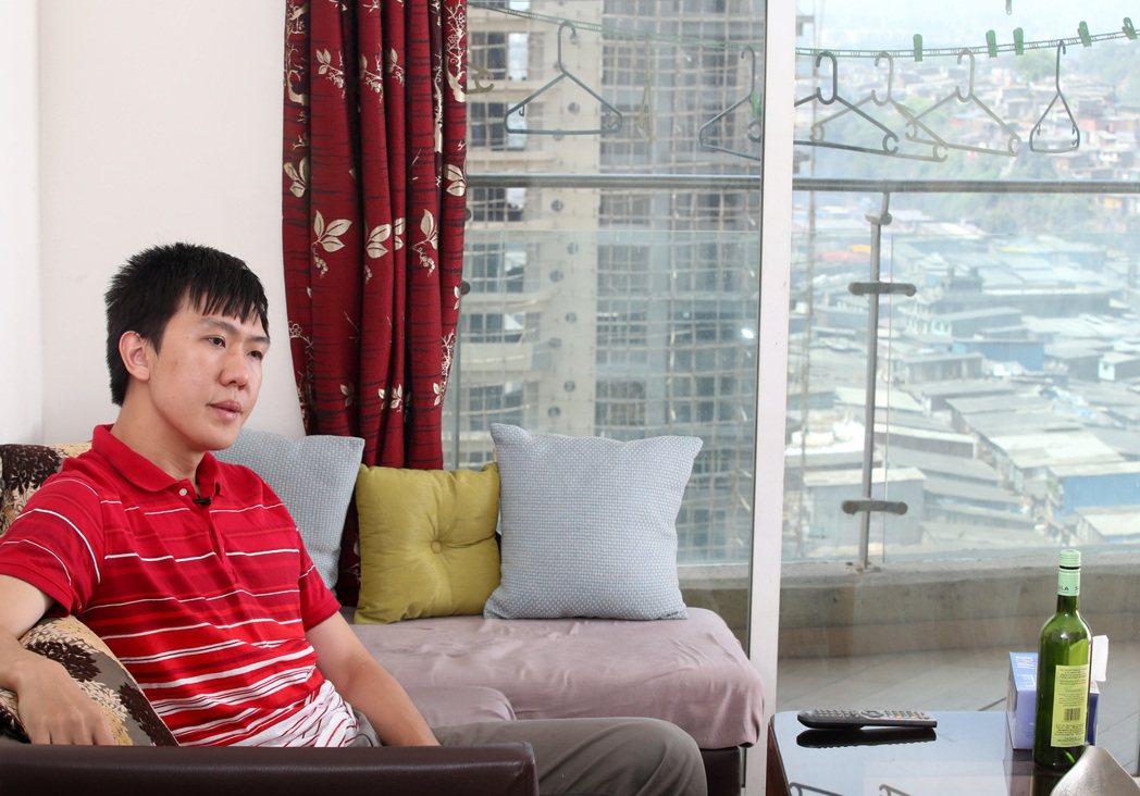 自願外派印度的台灣男人Dennis鄭世宏。 記者潘俊宏/攝影