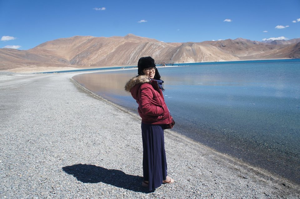 到印度各地旅遊是辜聖芬放鬆心情的方法。 圖/取自辜聖芬臉書