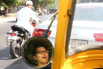 嘟嘟車是辜聖芬最常使用的交通工具。 記者潘俊宏/攝影