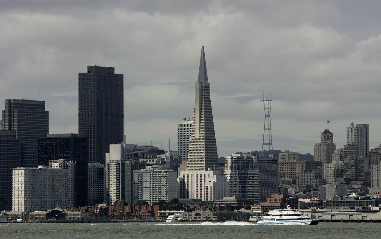 圖為從金銀島遠眺舊金山天際線。(Getty Images)