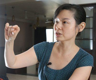 史紫蓉回想當初與公婆同住,衝突不斷。 記者潘俊宏/攝影