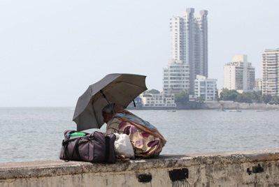 孟買海邊一隅。 記者潘俊宏/攝影