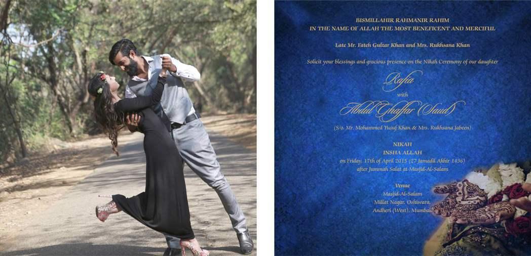 孟買姑娘Rafia的婚禮邀請卡。 記者潘俊宏/攝影