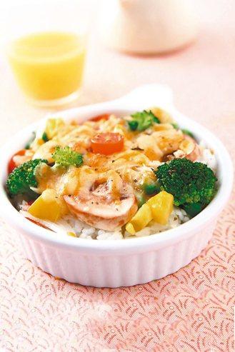 綠花椰蘑菇焗飯