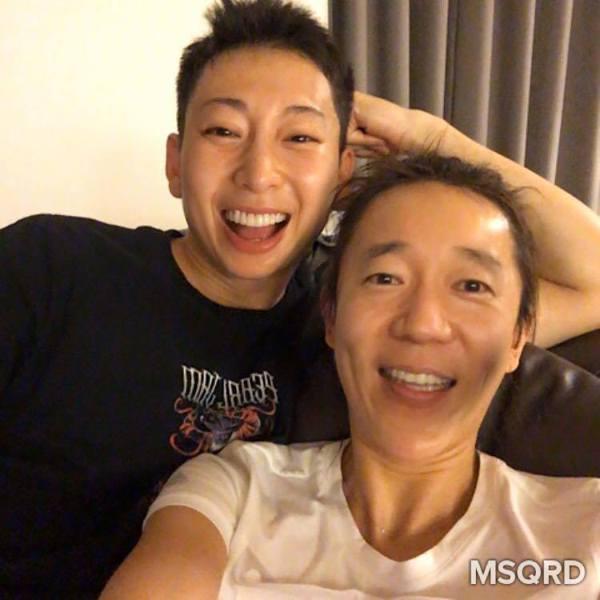 隋棠與老公玩MSQRD變臉App,毫無違和感。