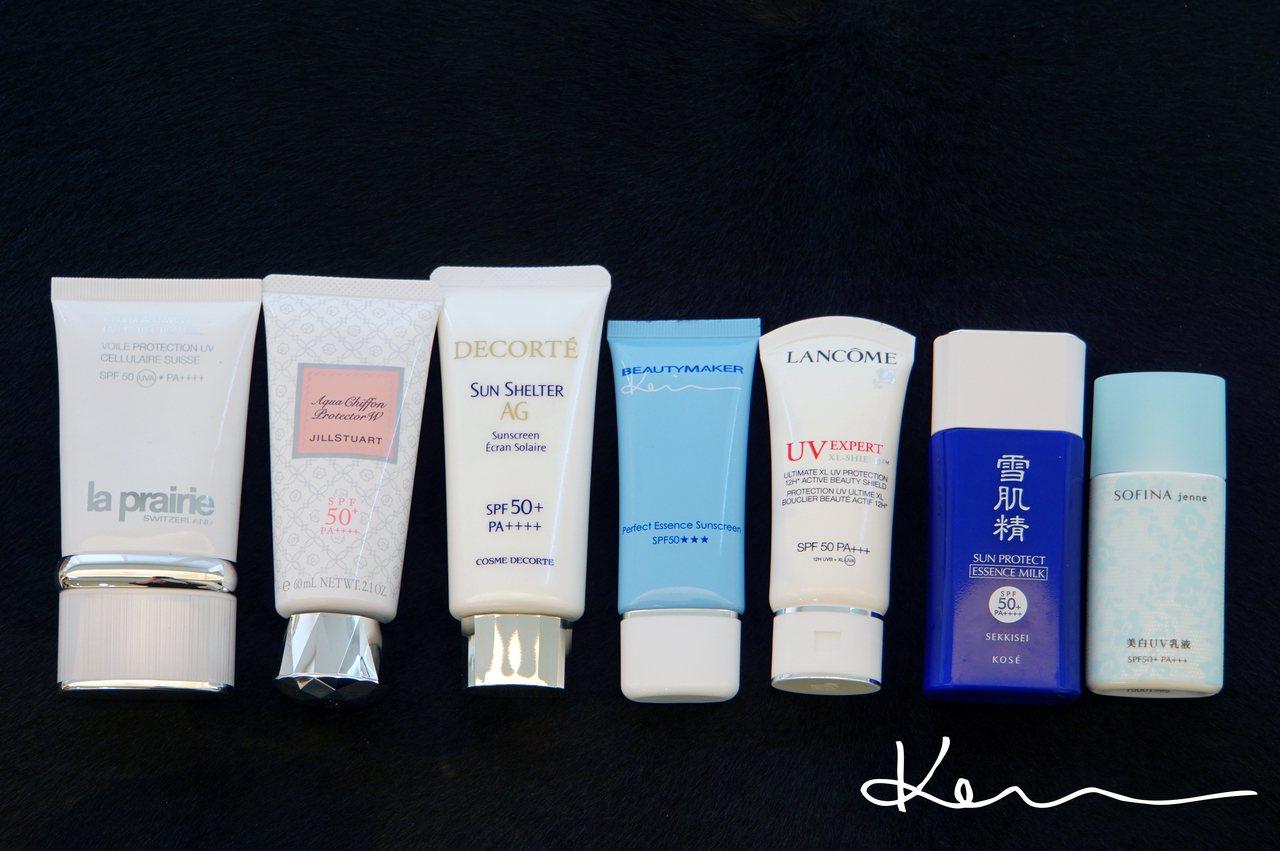 先跟大家介紹很標準劑型的臉部防曬乳,推開來後都是透明、沒有潤色修飾的效果。Kevin提供