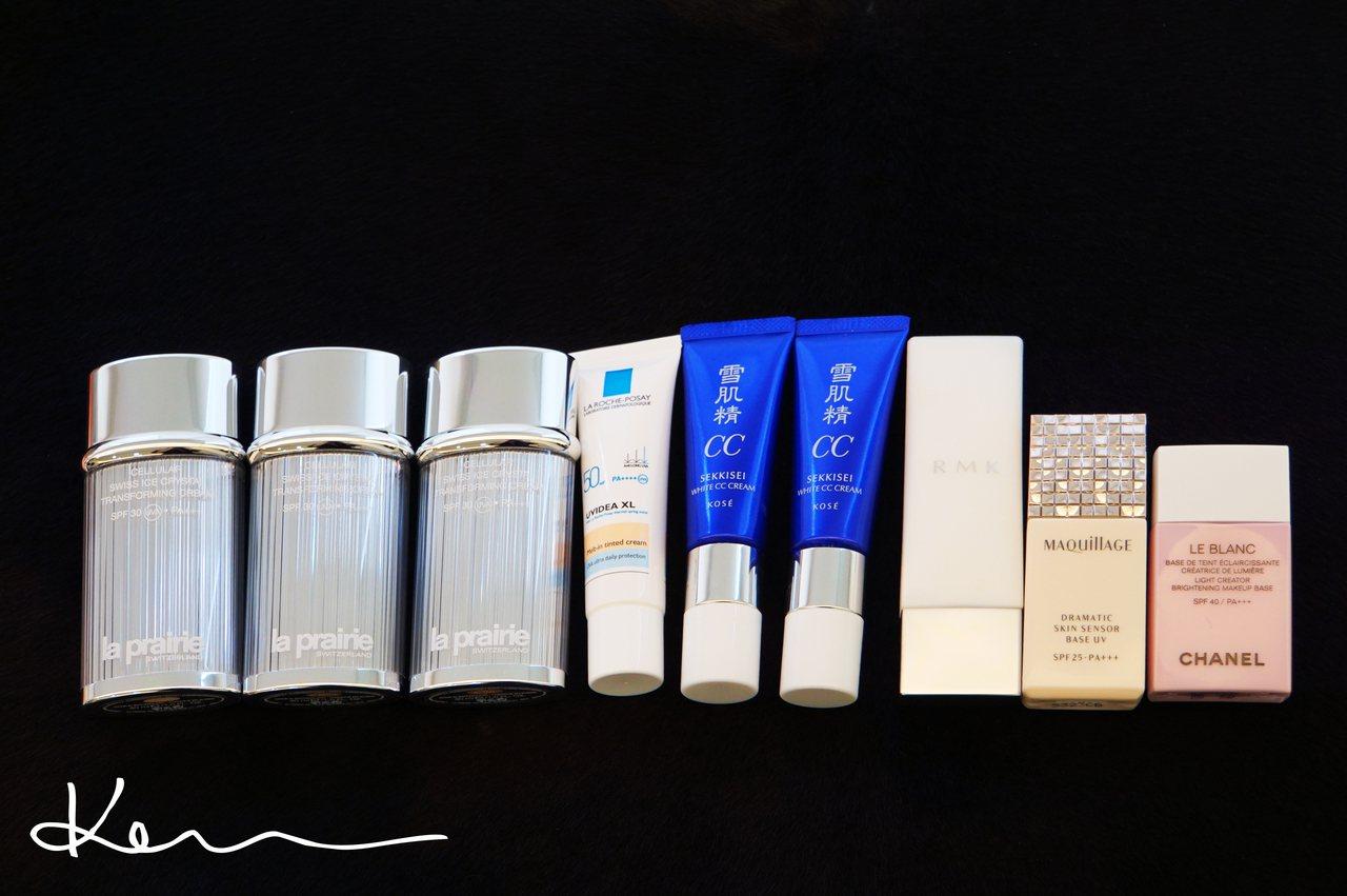 再來就是另一個常見的品項:它的產品本身有微潤色修飾的效果,或是它是輕透的CC霜,但是一樣具有高防曬係數。Kevin提供