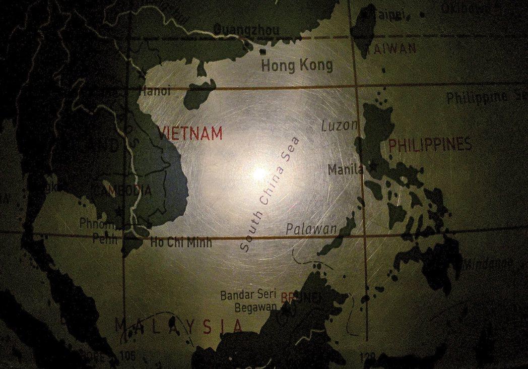 南海示意圖。 美聯社資料照