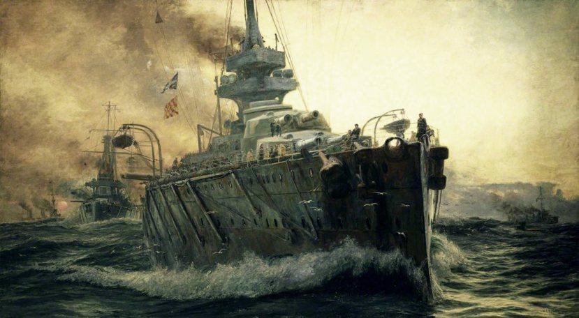 以英國大艦隊為主題,Wyllie所繪製的名畫《海上主宰》(Master Of T...
