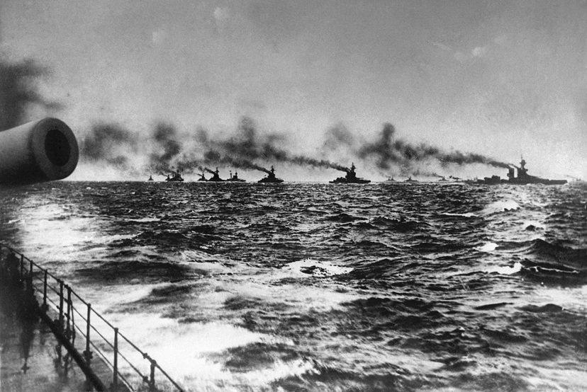 決戰日,準備迎戰的英國大艦隊。 圖/美聯社