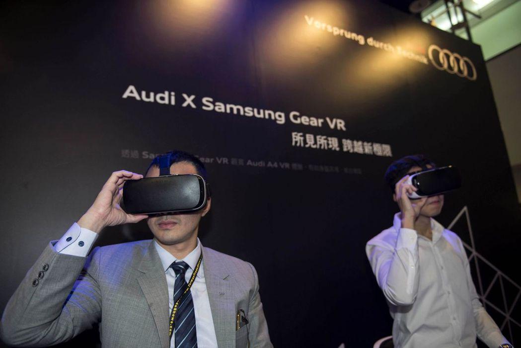 Audi首次與Samsung合作,參觀者可於VR虛擬體驗區,在虛擬實境中體驗Au...