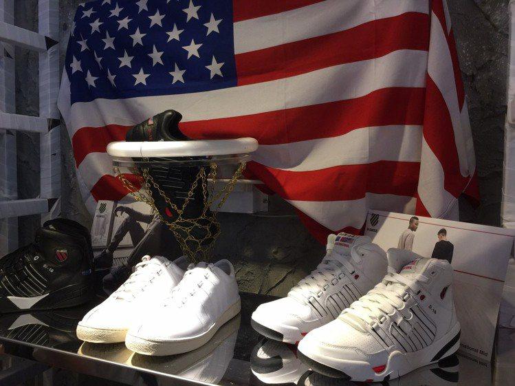 K-SWISS發表夏季鞋款,白色球鞋再度引領時尚。記者陶福媛/攝影
