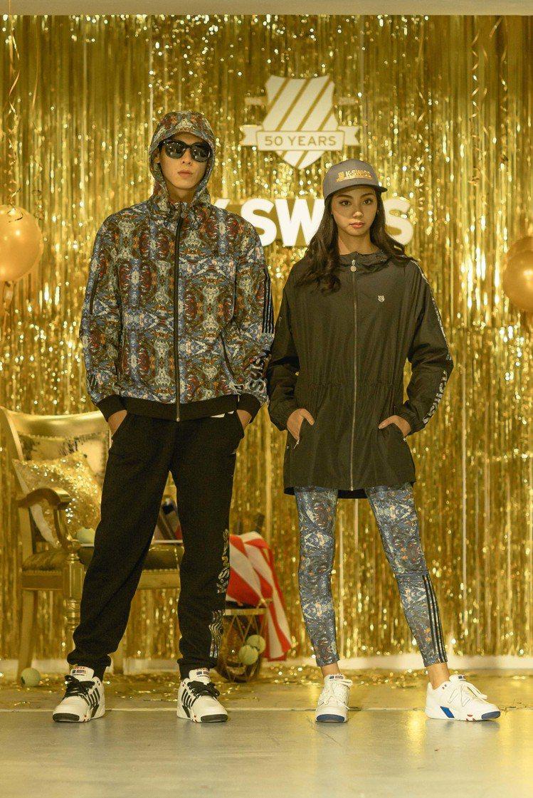 K-SWISS發表夏季鞋款,白色球鞋再度引領時尚。圖/K-SWISS提供