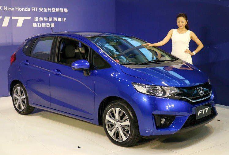 2017新年式New Honda FIT改款升級安全配備,要維持月銷售400至500台的目標。 記者史榮恩/攝影
