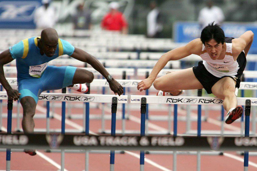 中國田徑選手劉翔於紐約參加田徑比賽。 圖/美聯社
