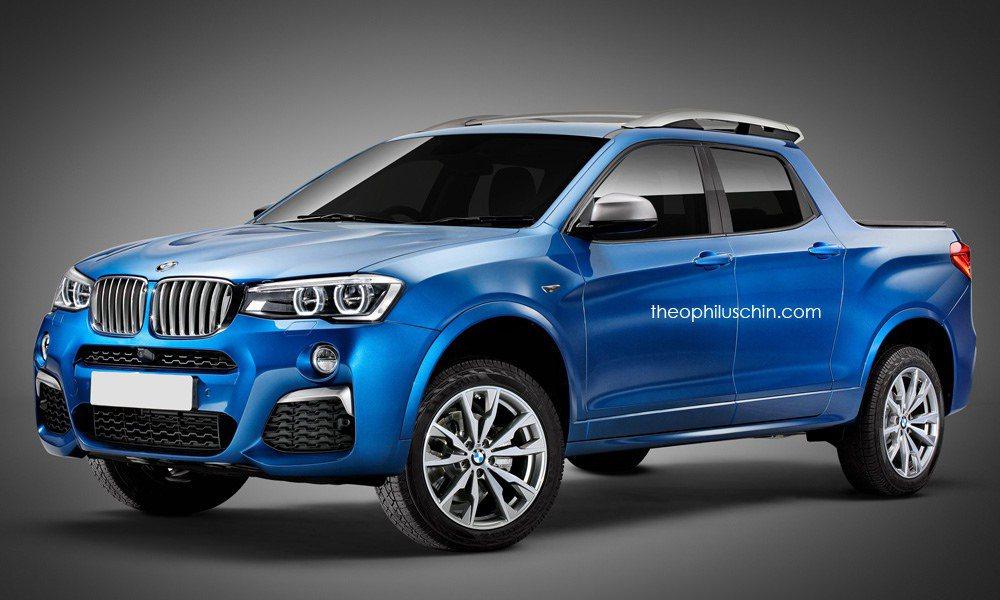 國外網站公布一張BMW皮卡車的假想圖,引發不少討論熱潮。  摘自theophi...