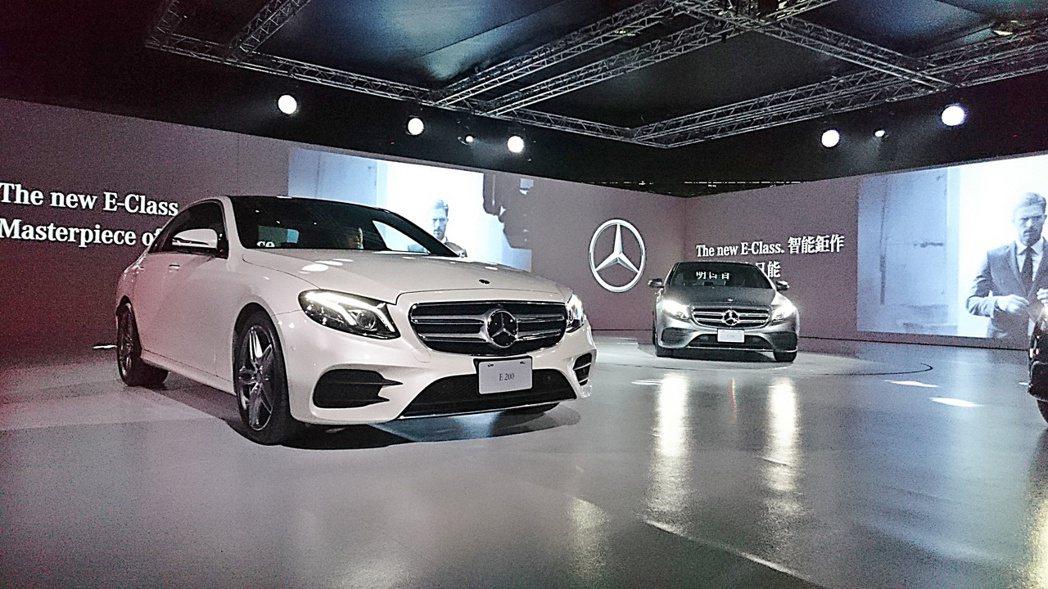 賓士(Mercedes Benz)6月2日正式發表,共E220d與E200兩種動力車型。 記者趙惠群/攝影