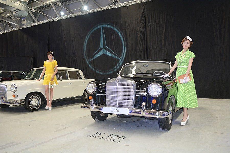 台灣賓士也特別安排不同世代E系列同台展示。 記者趙惠群/攝影