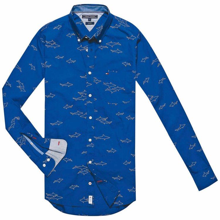 Tommy Hilfiger鯊魚印花襯衫,4380元。 圖/Tommy Hilf...