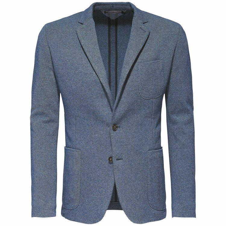 Tommy Hilfiger藍灰色素面西裝外套,15800元。 圖/Tommy ...