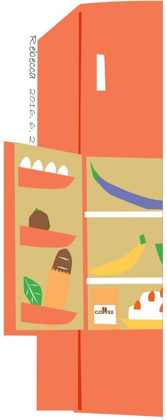八個壞習慣 你把冰箱搞髒了 杜玉佩/繪圖